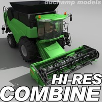 3d model of hi-res combine harvester