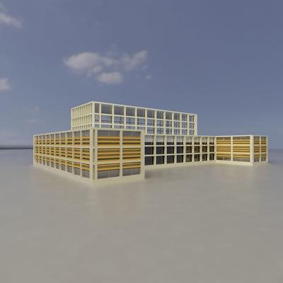 3ds max multi purpose building