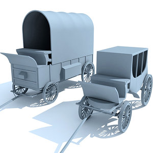 3d 2 carriages