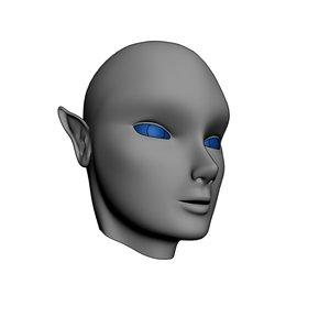 elven head mesh 3d max