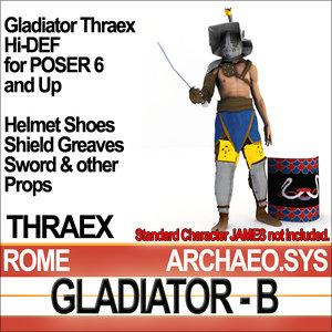 3ds roman gladiator thraex set