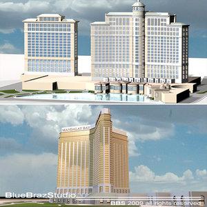 3d model las vegas mandalay bay