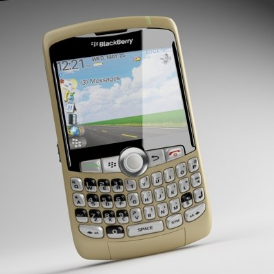 3d blackberry curve 8310 model