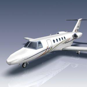 citation cj4 aircraft jets 3d 3ds