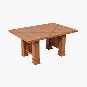 3d model design dana table wood