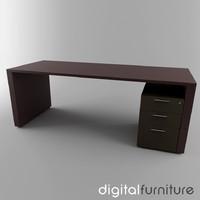 3d model office desk