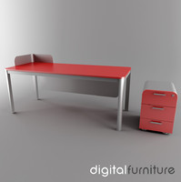 3ds max office desk