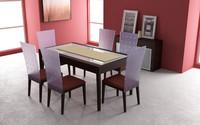 3dsmax dining room set 02