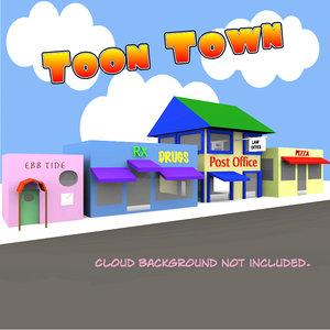 toon town 3d model