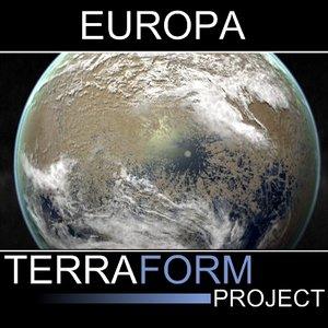 3d model europa terraform