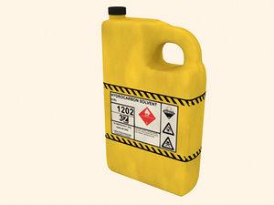 free bottle hydrocarbon solvent 3d model