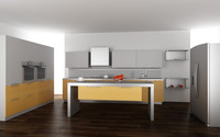 3d kitchen set 03