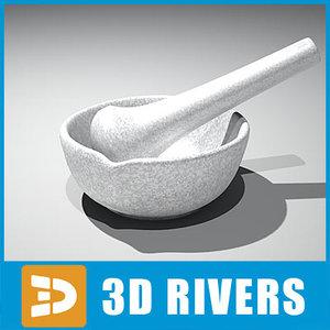 3d model of mortar pestle
