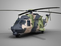 nhi nh90 military helicopter 3d max