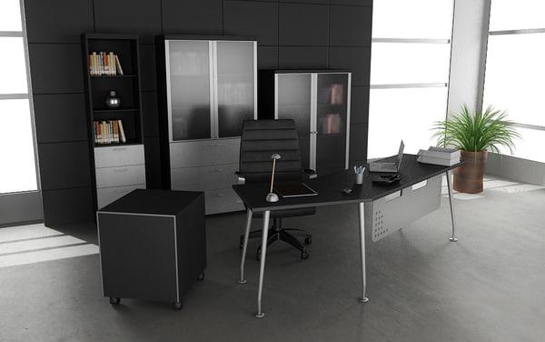 maya office set 04