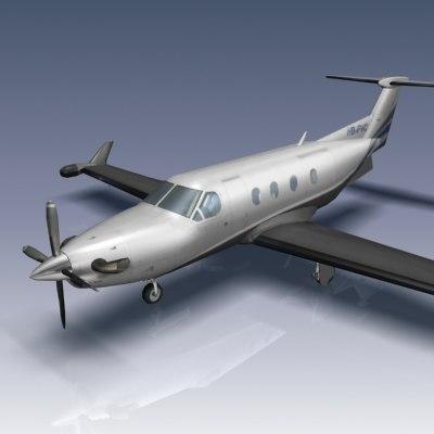 3d pilatus pc-12 model