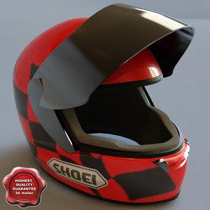 racing helmet 3d model