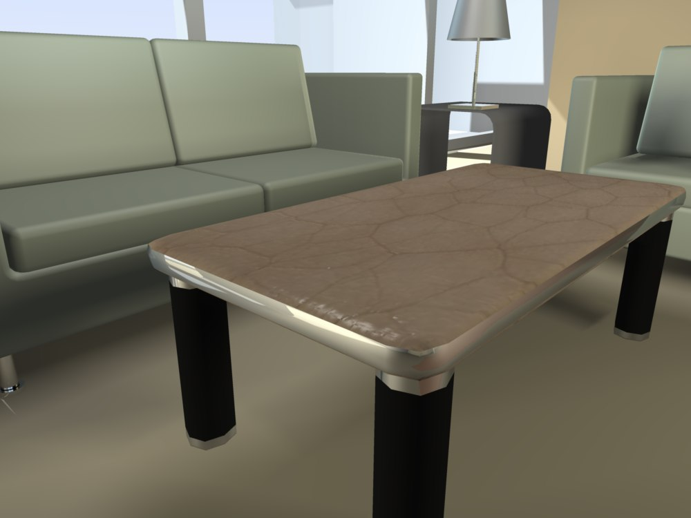 free table room 3d model