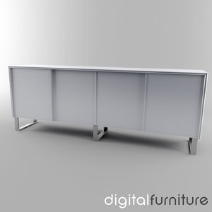 3ds max sideboard digital