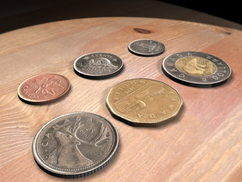 canadian coins 3d max