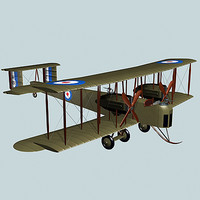 vickers vimy bomber 3d model