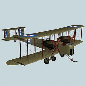 vickers vimy bomber 3d model