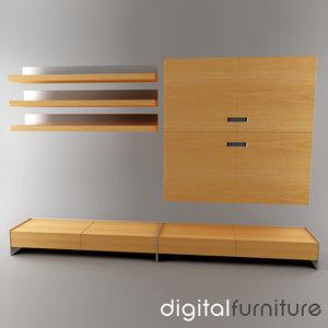 3d model wall digital