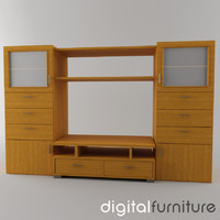 TV Furniture Wall System 01