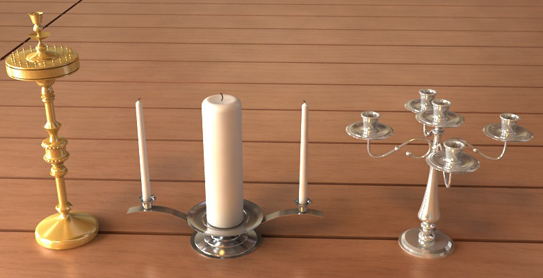 candle stands 3d max