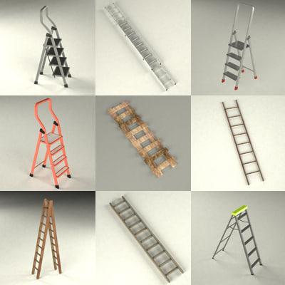 ladder stepladder 3d max