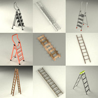 ladder stepladder 3d max