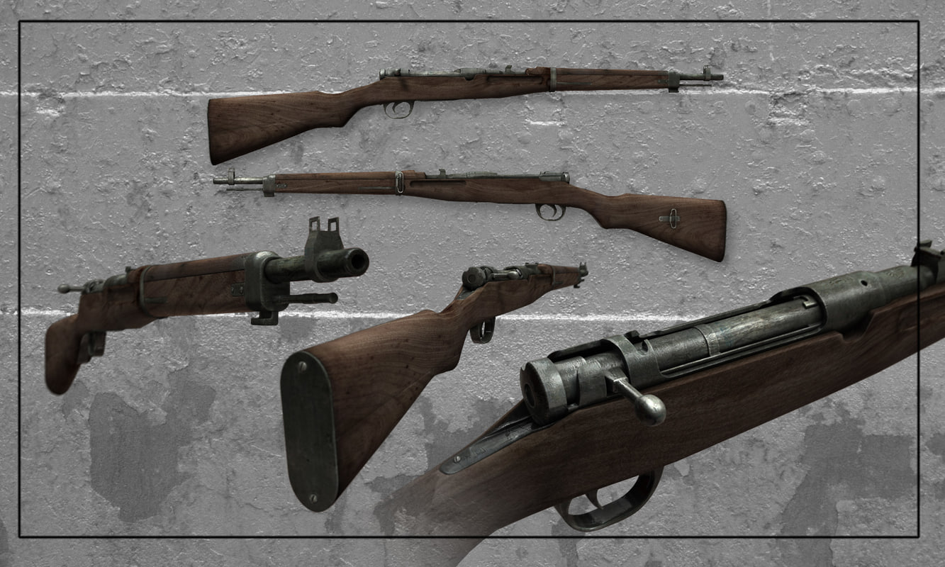 3d model of rifle arisaka