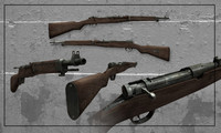 3d model of rifle arisaka