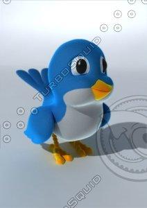3ds max cartoon bird