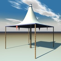 cinema4d circus faire tent