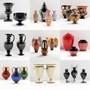 3d vases