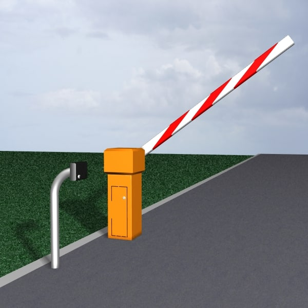 barrier gate 3d model