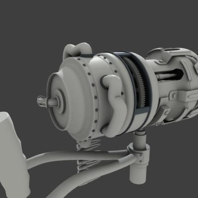 gatling gun 3d max
