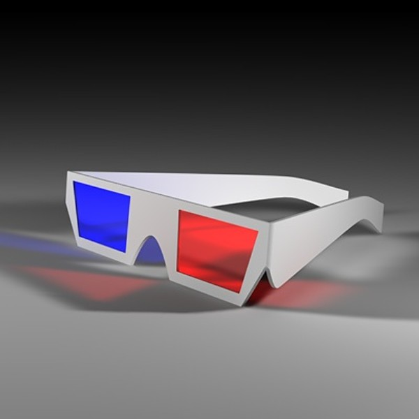 3d model glasses movies