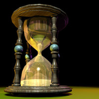 3ds max hourglass 01 animation hour glass