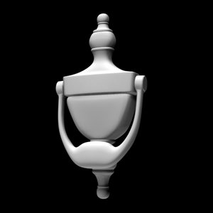 3d style door knocker scale