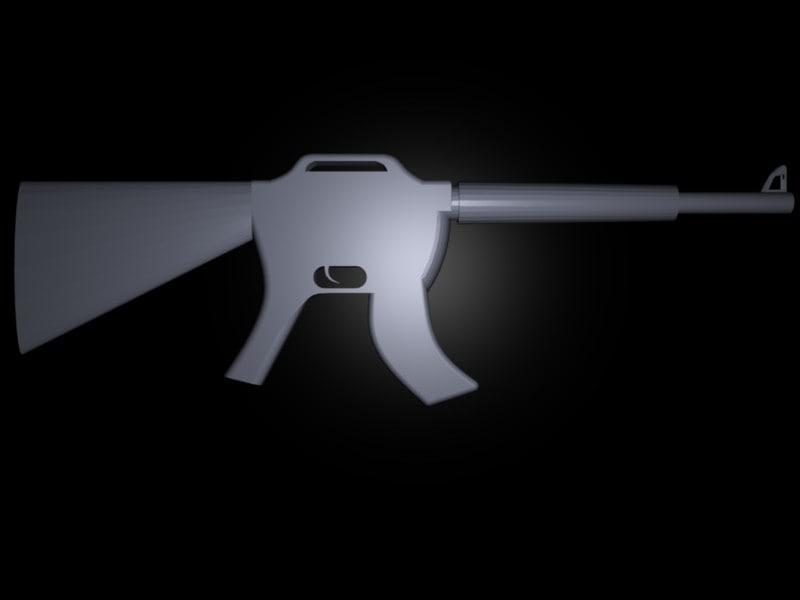 3d m16 assault rifle model