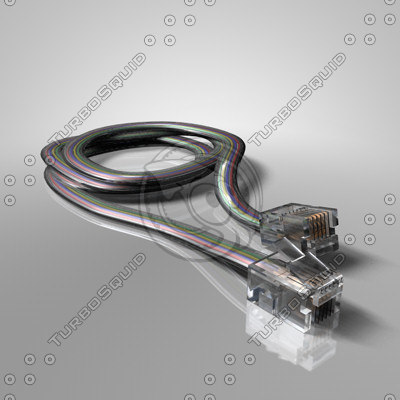 telephone modem cable 3ds