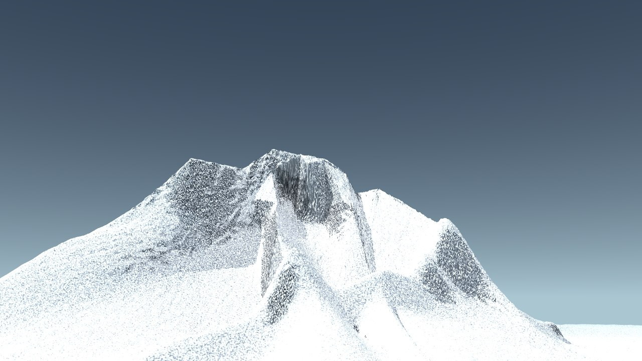 icy mountain peak 3d dxf