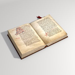 3d medieval book