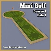 mini golf hole obj