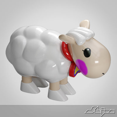 3ds sheep toy