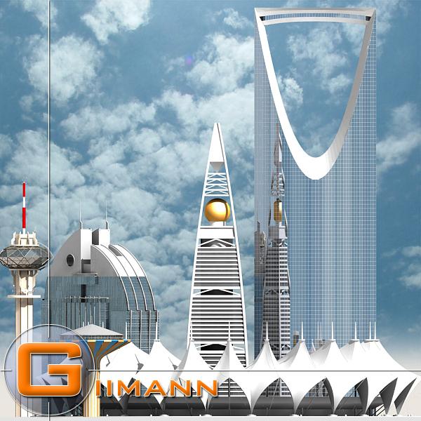 3d riyadh water tower