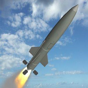 soviet ss-21 scarab missile 3d 3ds