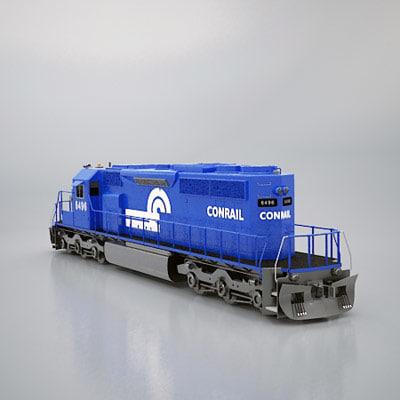 3d sd40 conrail model